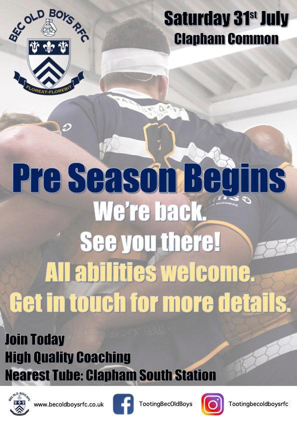 Pre Season Begins!